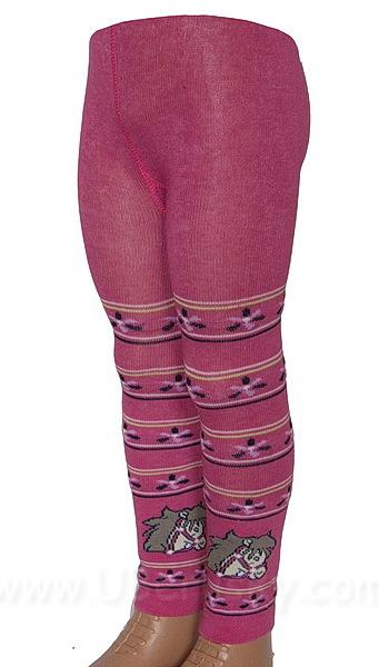 Dětské legíny (60183a), vel. 98-104, Růžová