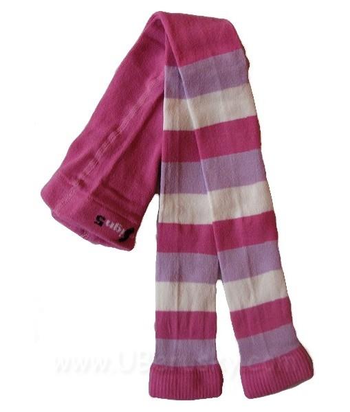 Dětské legíny (DELE 2a), vel. 116-122, růžovo-fialová