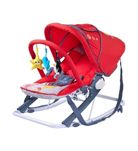 Dětské lehátko CARETERO Aqua red, Červená