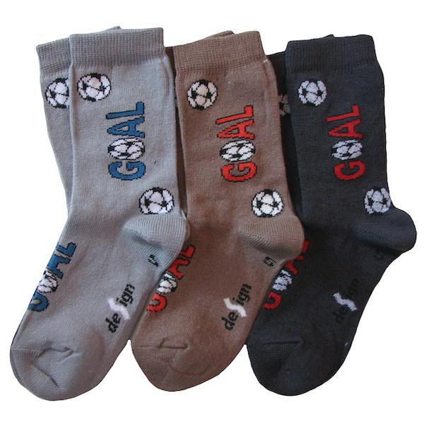 Dětské ponožky 3 páry (DEKL 48), vel. 35-37, šedo-hnědá
