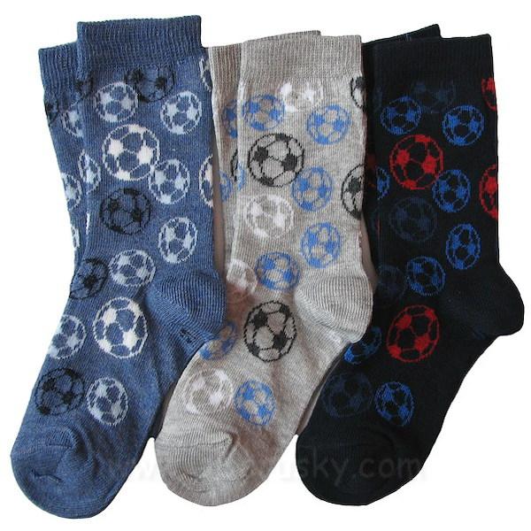 Dětské ponožky 3 páry (DEKL 64), vel. 35-37, modro-šedá