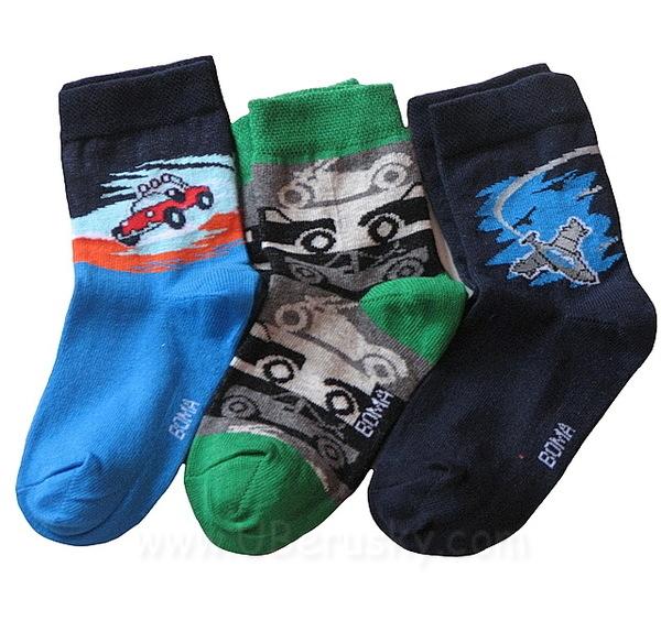 Dětské ponožky Boma 3 páry (Club II), vel. 35-38, modro-zelená