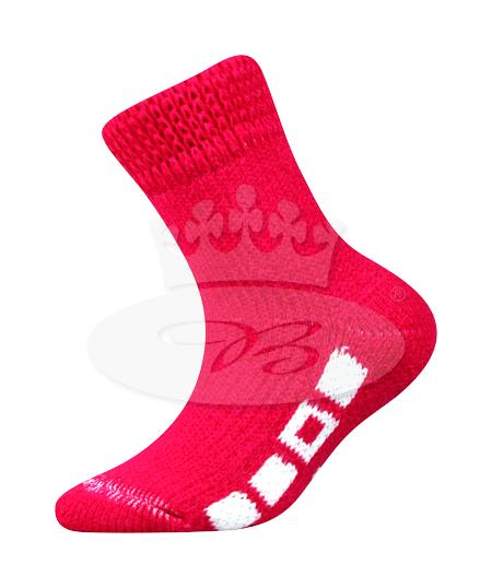 Dětské ponožky Boma Spací (B275), vel. 35-38, tm. růžová