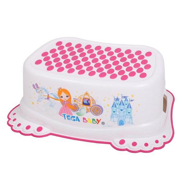 Dětské protiskluzové stupátko do koupelny Malá Princezna bílé, Bílá
