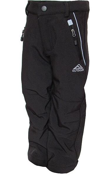 Dětské softshellové kalhoty Kugo (S6105), vel. 92, černá