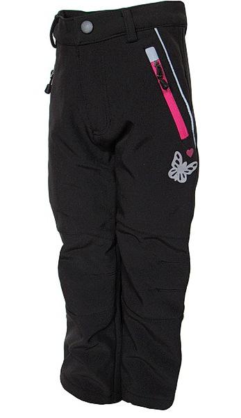 Dětské softshellové kalhoty Kugo (S6105), vel. 110, černo-růžová