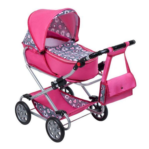 Dětský kočárek pro panenky 2v1 New Baby Lily, Růžová