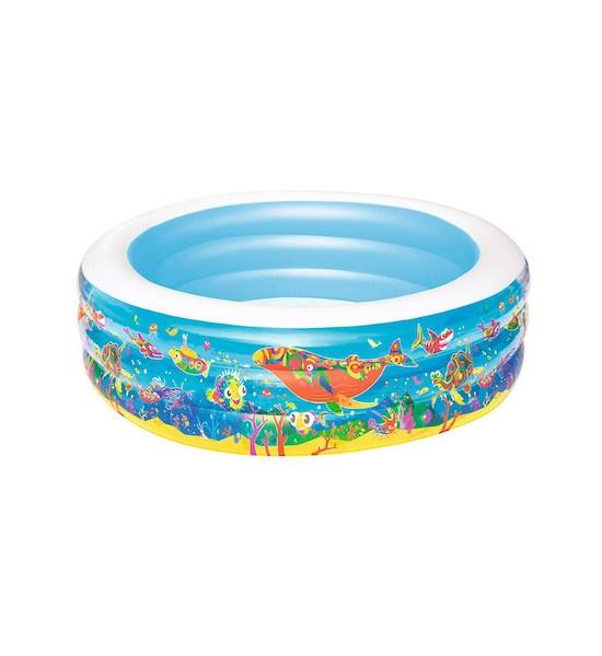 Dětský nafukovací bazén Bestway okénka, Světle modrá