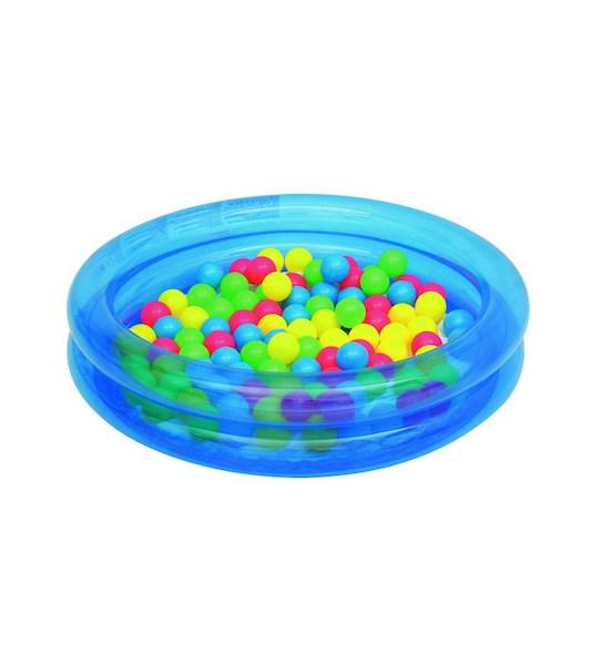 Dětský nafukovací bazén Bestway s míčky modrý, Modrá