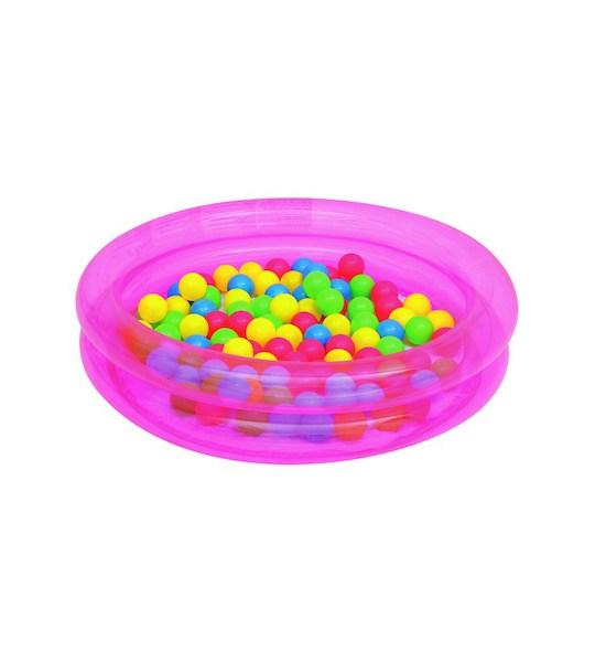 Dětský nafukovací bazén Bestway s míčky růžový, Růžová