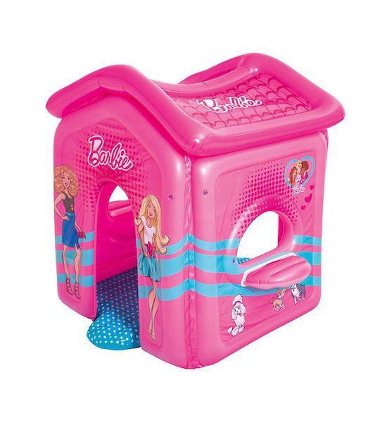 Dětský nafukovací domeček Bestway Barbie, Růžová