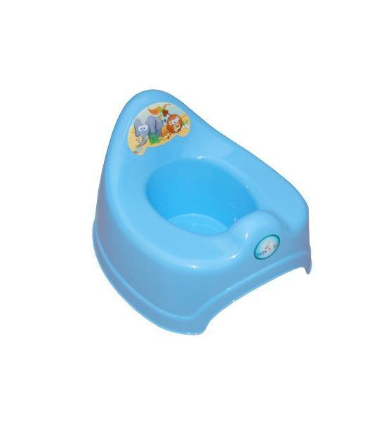 Dětský nočník Safari žlutý, Modrá