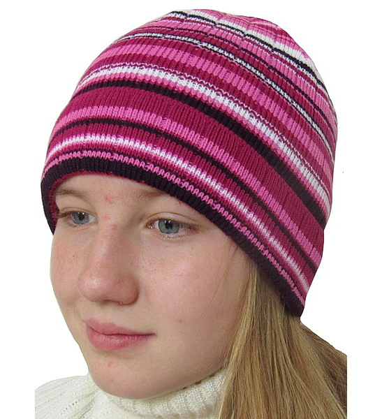 Dívčí čepice Dráče (RA1020), vel. 128, Růžová