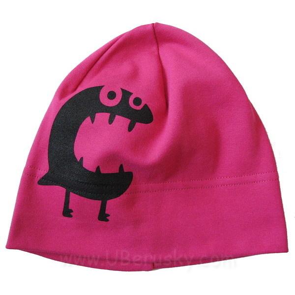 Dívčí čepice (obludka), vel. 104-110, Růžová