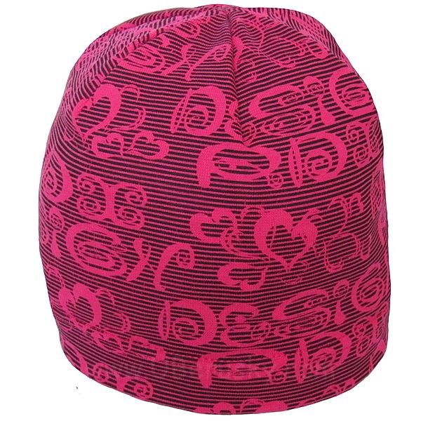 Dívčí čepice srdce (RDX03), vel. 104, tm. růžová