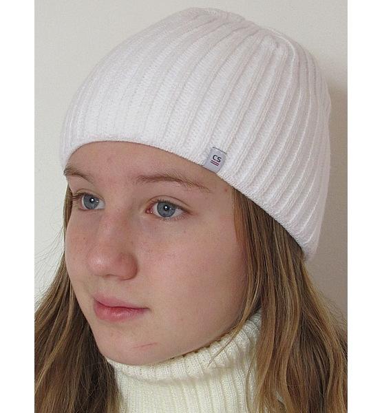 Dívčí, dámská čepice RDX (R4873), vel. 134-164, Bílá