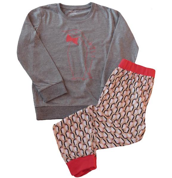 Dívčí, dorostové pyžamo Wolf (S2653B), vel. 140, šedá