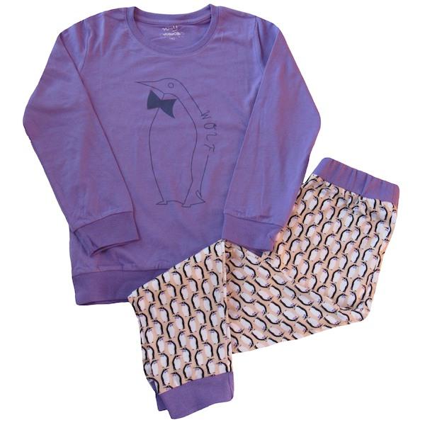 Dívčí, dorostové pyžamo Wolf (S2653B), vel. 146, Fialová