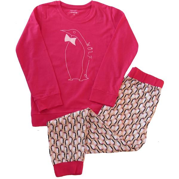 Dívčí, dorostové pyžamo Wolf (S2653B), vel. 140, Růžová