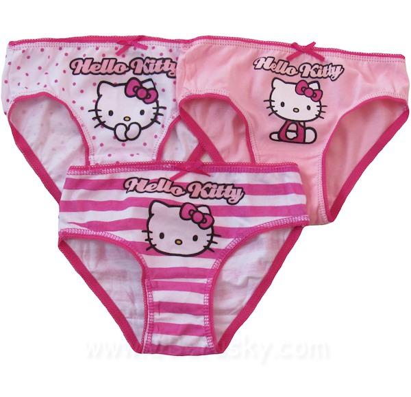 Dívčí kalhotky Hello Kitty 3 ks (Ha103), vel. 104-110, růžovo-bílá