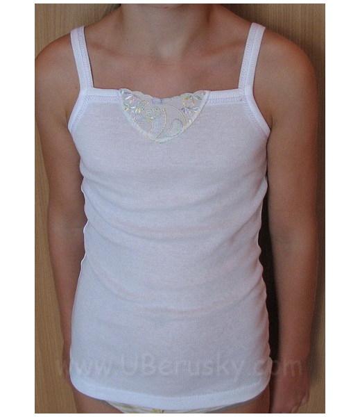 Dívčí košilka Lusy, vel. 128, Bílá