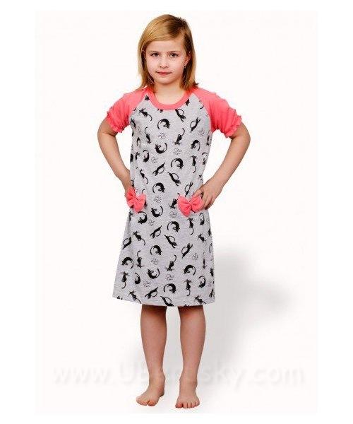 Dívčí noční košile, vel. 116, kočky