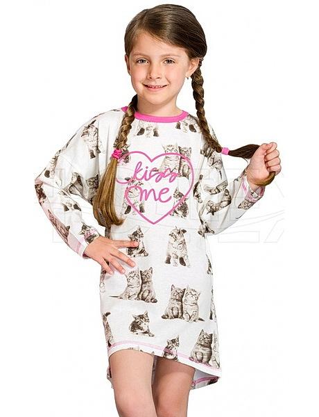 Dívčí noční košile Angela (Taro1158), vel. 140, Smetanová