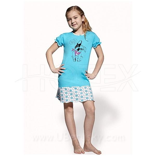 Dívčí noční košile (CO1001), vel. 104, Modrá