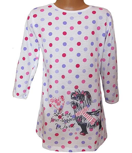 Dívčí noční košile Wolf (S2660), vel. 122, Bílá