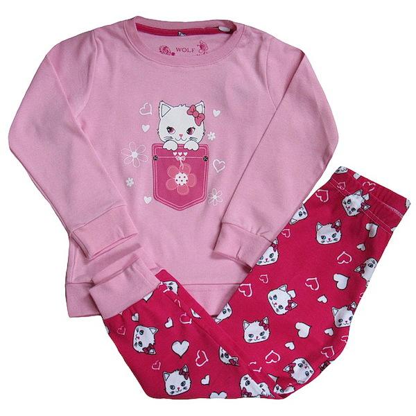 Dívčí pyžamo Wolf (S2669), vel. 98, Červená