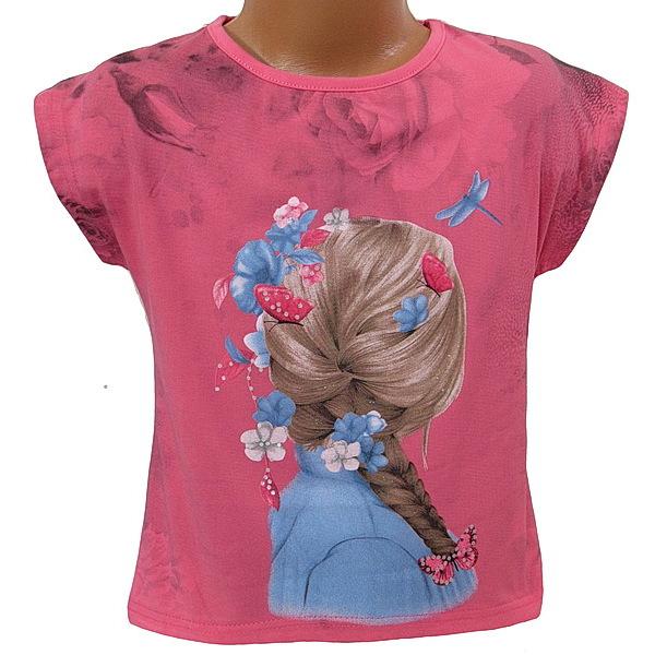 Dívčí triko Kugo (S3006), vel. 134, Růžová