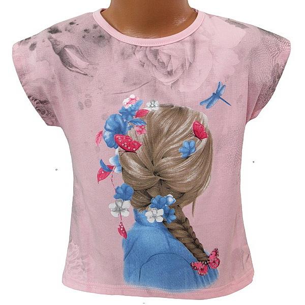 Dívčí triko Kugo (S3006), vel. 128, sv. růžová