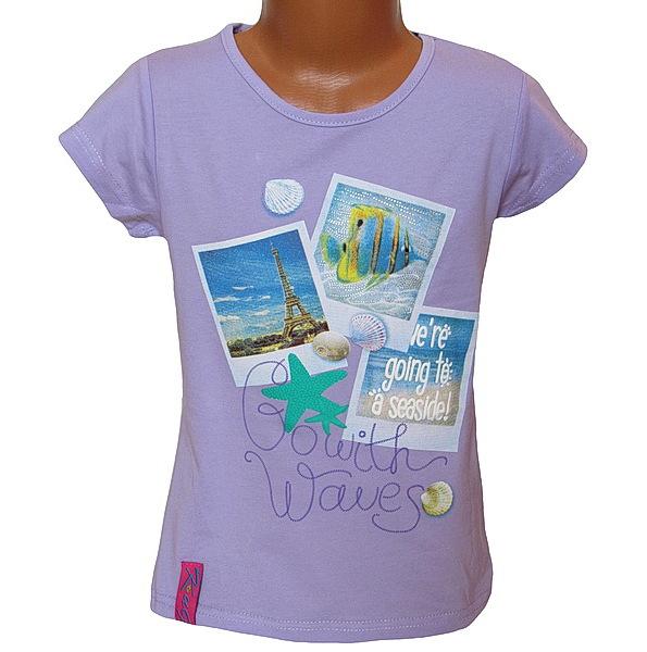 Dívčí triko Kugo (T1005), vel. 140, Lila