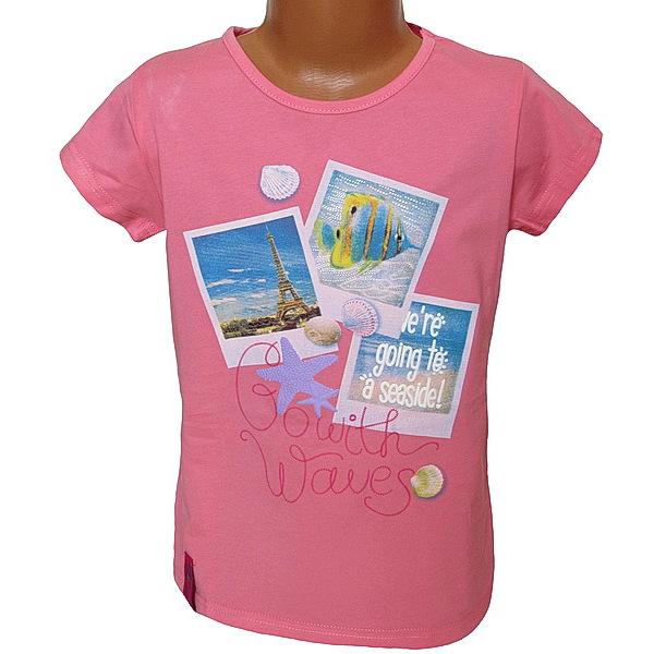 Dívčí triko Kugo (T1005), vel. 146, lososová