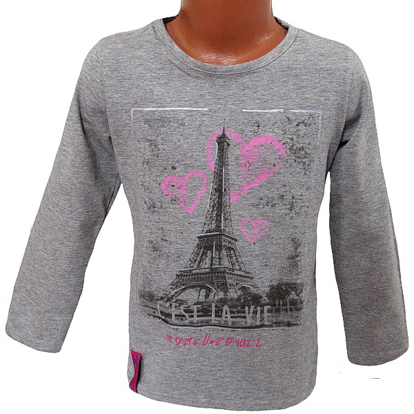 Dívčí triko Kugo (T1128), vel. 122, šedá