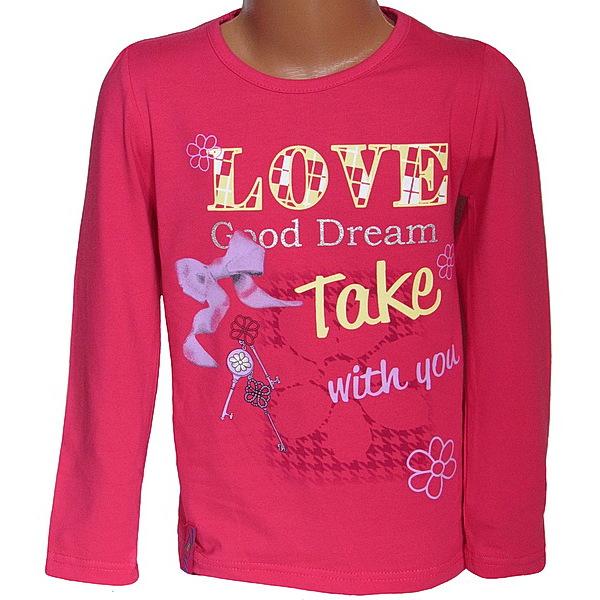 Dívčí triko Kugo (T6804), vel. 122, Růžová