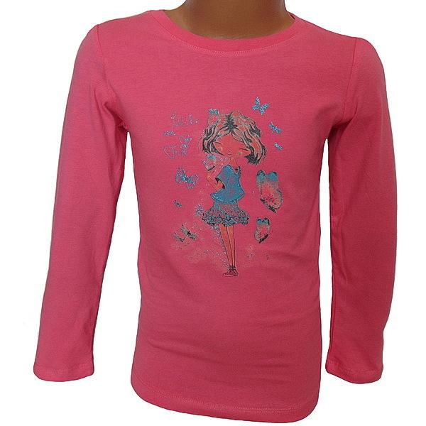 Dívčí triko Wolf (S2641), vel. 110, Růžová