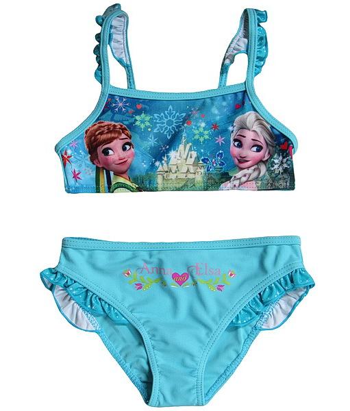 Dvojdílné plavky Frozen (DQE1085), vel. 104, tyrkysová