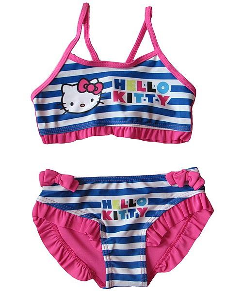 Dvojdílné plavky Hello Kitty (Ha5688), vel. 116-122, Růžová
