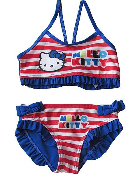 Dvojdílné plavky Hello Kitty (Ha5688), vel. 104-110, Modrá