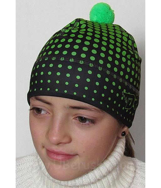 Funkční čepice zimní (FZ10163), vel. 92-104, černo-zelená