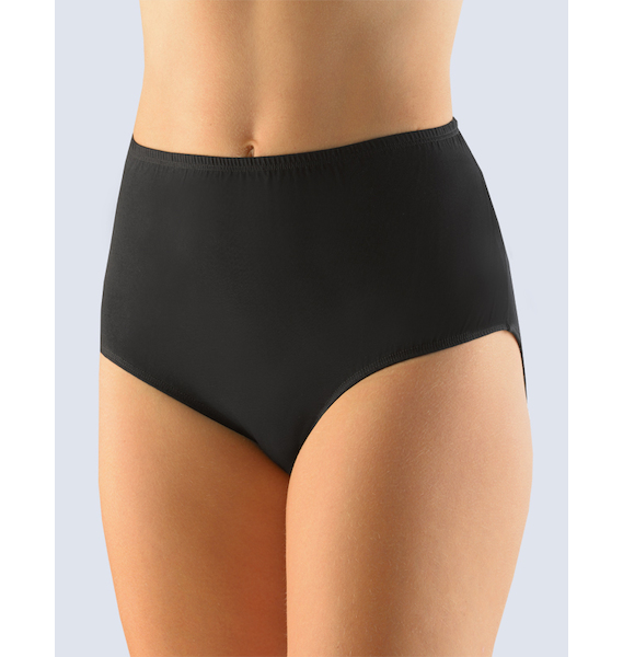 GINA dámské kalhotky klasické ve větších velikostech, větší velikosti, šité, jednobarevné 11049P - bílá 46/48, vel. 54/56, černá