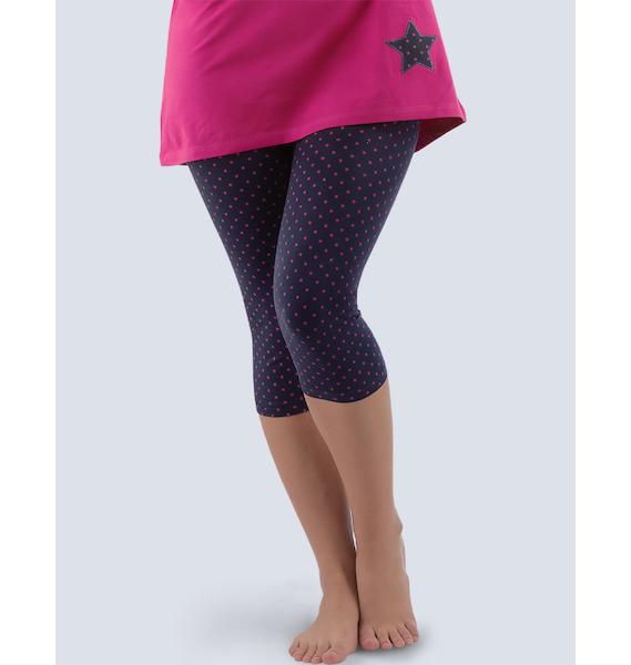 GINA dámské kalhoty 3/4 pyžamové dámské, bokové, 3/4 kalhoty, šité, s potiskem Pyžama 2016 19726P - tm. šedá S, vel. S, tm. šedá