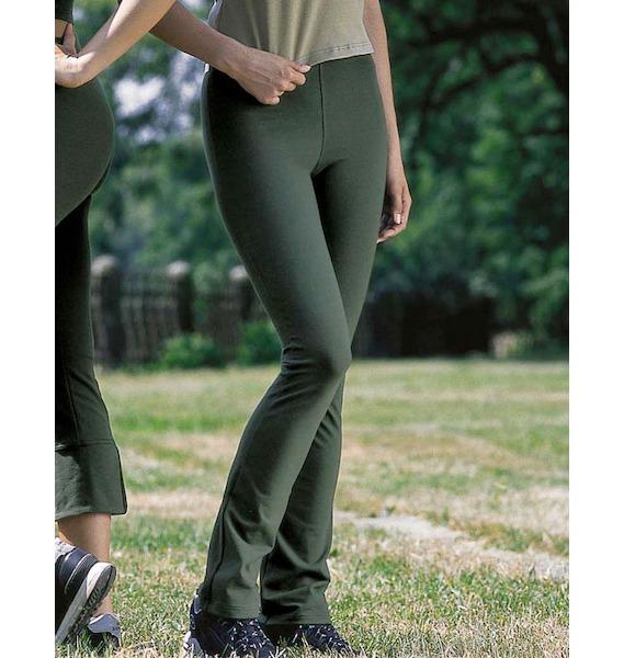 GINA dámské kalhoty zvonové prodloužená délka, dlouhé, šité, klasické, jednobarevné 96008P - písková S, vel. S, šedobílá