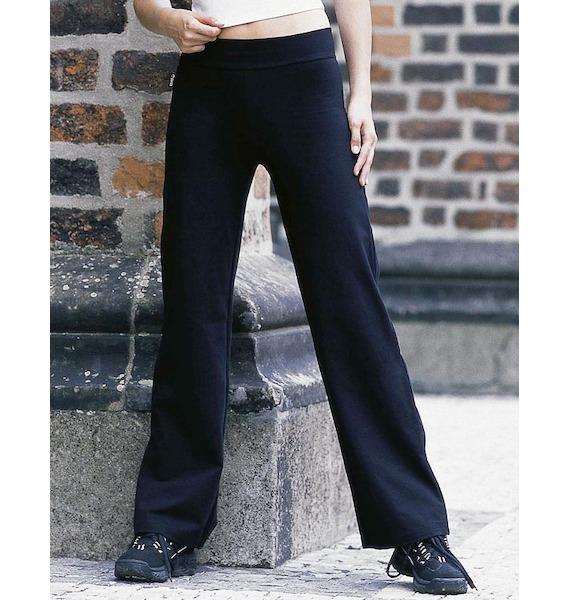 GINA dámské kalhoty zvonové prodloužená délka, dlouhé, šité, klasické, jednobarevné 96016P - písková S, vel. S, písková