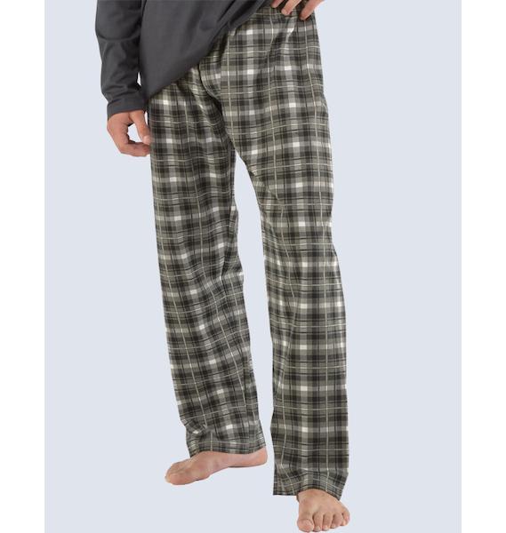 GINA pánské kalhoty dlouhé pyžamové pánské, šité, klasické, s potiskem Pyžama 2014 79710P - dunaj M, vel. M, dunaj