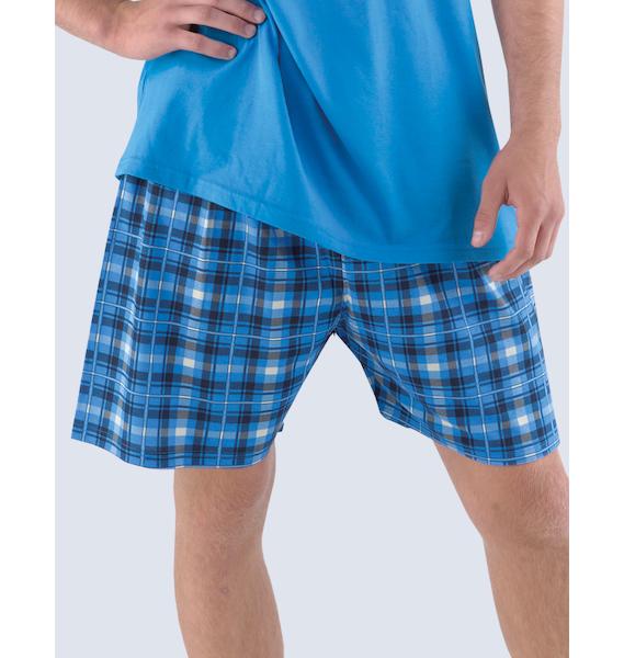 GINA pánské šortky pyžamové pánské, krátké, šité, klasické, s potiskem Pyžama 2014 79711P - dunaj M, vel. M, dunaj