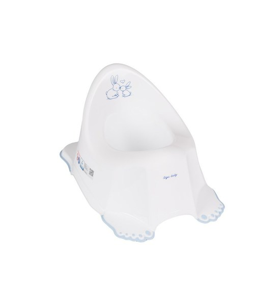 Hrající dětský nočník protiskluzový béžový medvídek, Bílá