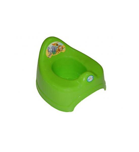 Hrající dětský nočník safari zelený, Zelená