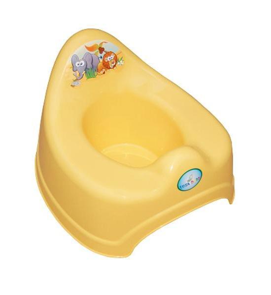 Hrající dětský nočník safari fialový, Žlutá